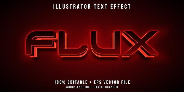 Efeito de texto editável - estilo de luz led vermelho brilhante