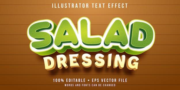 Efeito de texto editável - estilo de molho para salada