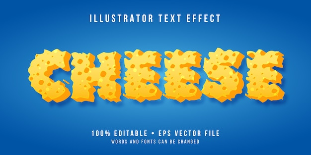 Efeito de texto editável - estilo de queijo