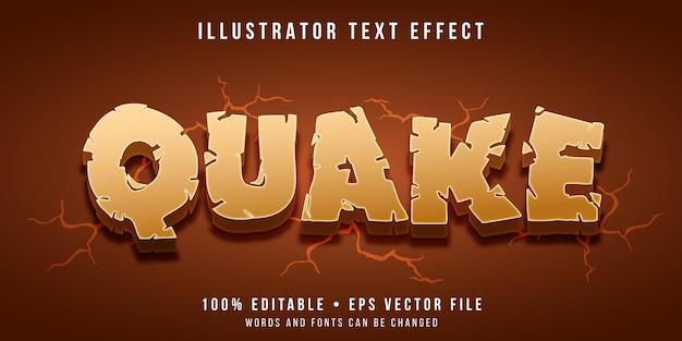Efeito de texto editável - estilo de terremoto