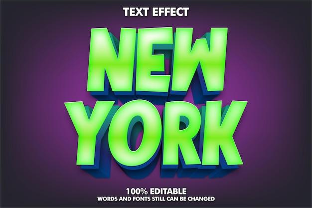 Efeito de texto editável estilo de texto 3d moderno para título de desenho animado