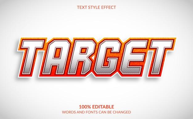 Efeito de texto editável, estilo de texto alvo