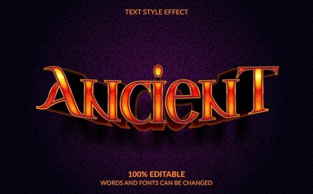 Efeito de texto editável, estilo de texto antigo