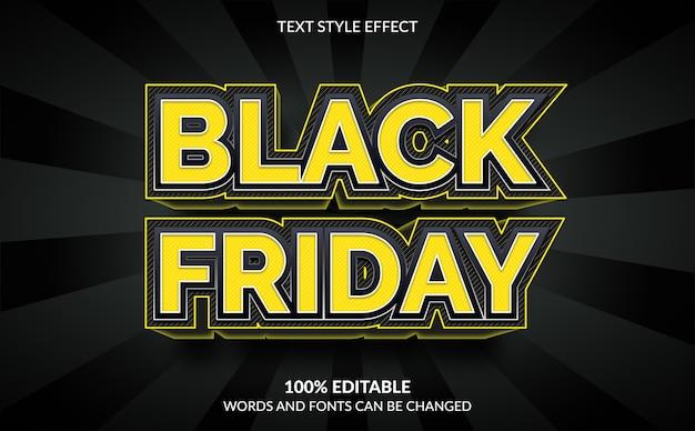 Efeito de texto editável, estilo de texto black friday