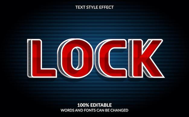Efeito de texto editável, estilo de texto bloqueado