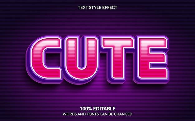 Efeito de texto editável, estilo de texto bonito
