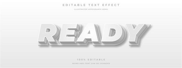 Efeito de texto editável estilo de texto branco 3d