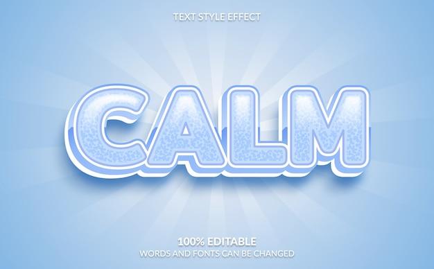 Efeito de texto editável, estilo de texto calmo