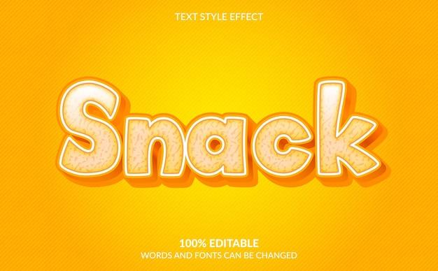 Efeito de texto editável, estilo de texto cheese snack