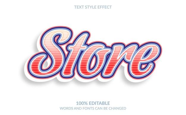 Efeito de texto editável, estilo de texto da loja
