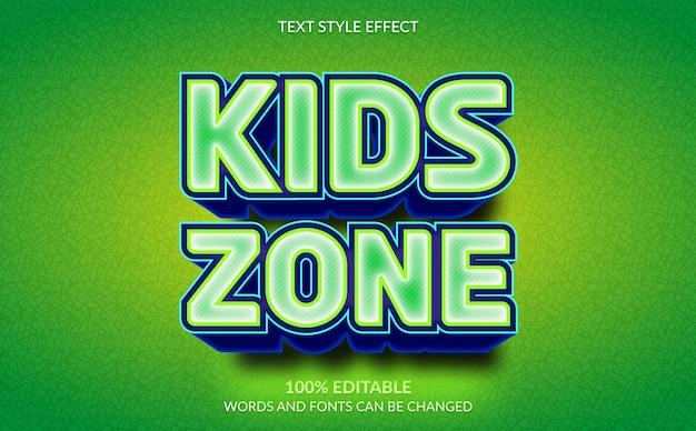 Efeito de texto editável, estilo de texto da zona infantil
