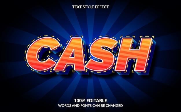 Efeito de texto editável, estilo de texto de caixa
