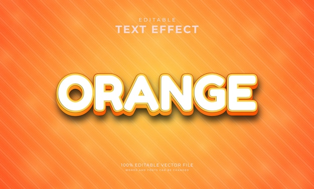 Efeito de texto editável estilo de texto de cor laranja