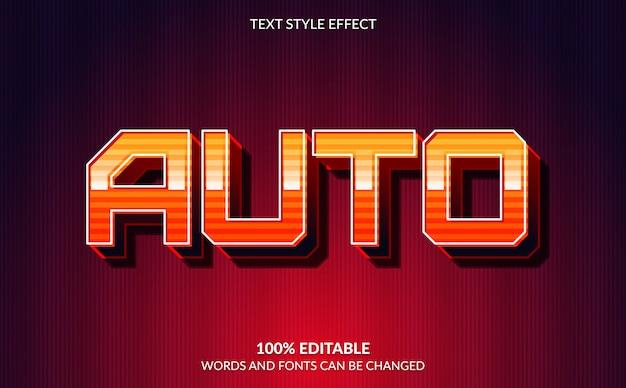 Efeito de texto editável, estilo de texto de corrida automática