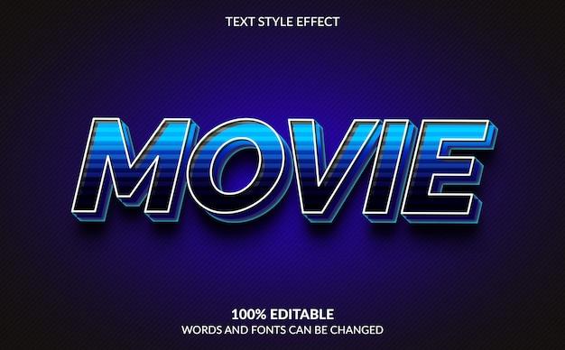 Efeito de texto editável, estilo de texto de filme moderno