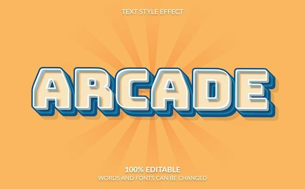 Efeito de texto editável, estilo de texto de jogo de arcade