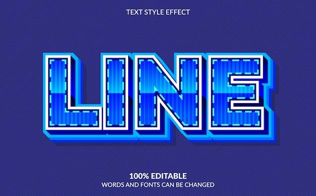 Efeito de texto editável, estilo de texto de linha