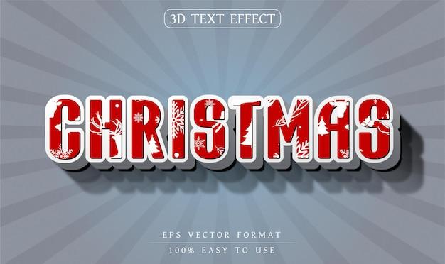 Efeito de texto editável estilo de texto de natal