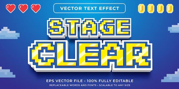 Efeito de texto editável - estilo de texto de pixel de videogame