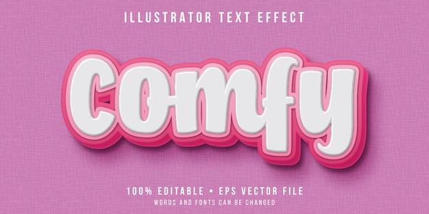 Efeito de texto editável - estilo de texto de script em relevo