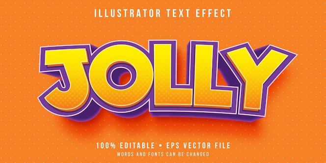 Efeito de texto editável - estilo de texto de sentimento feliz