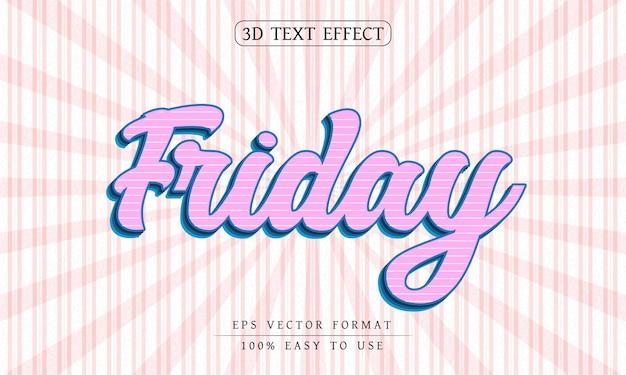 Efeito de texto editável estilo de texto de sexta-feira