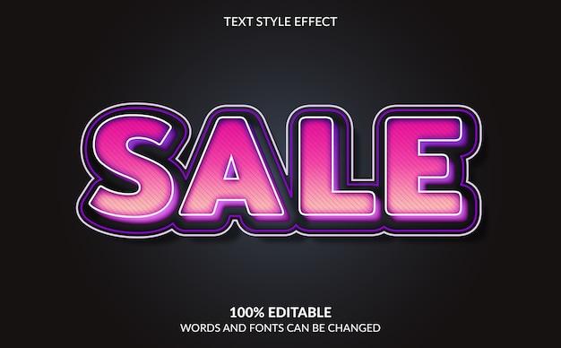 Efeito de texto editável, estilo de texto de venda