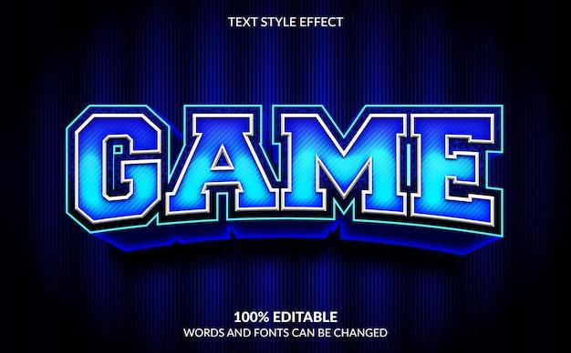 Efeito de texto editável, estilo de texto do jogo