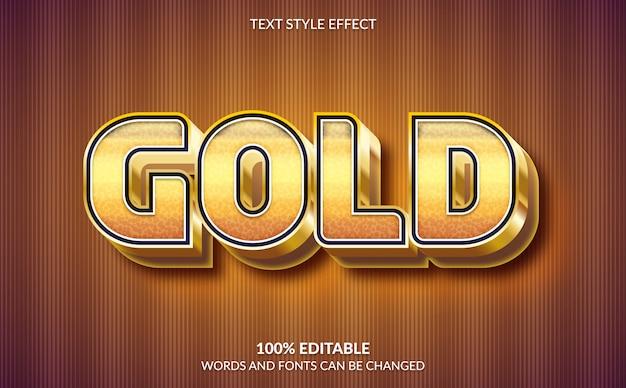 Efeito de texto editável, estilo de texto dourado