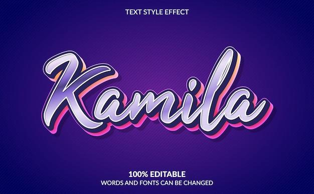 Efeito de texto editável, estilo de texto elegante e feminino