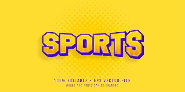 Efeito de texto editável estilo de texto esportivo