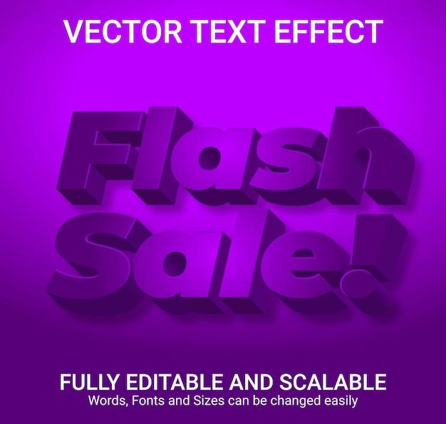 Efeito de texto editável - estilo de texto flash sale