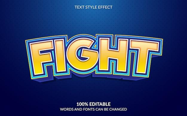 Efeito de texto editável, estilo de texto forte e ousado de videogame