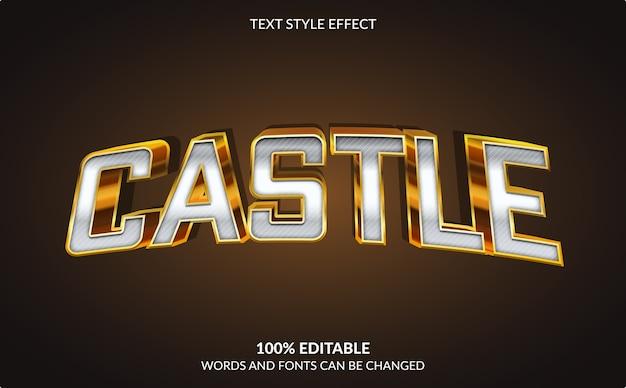 Efeito de texto editável, estilo de texto golden castle