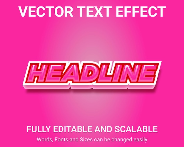 Efeito de texto editável - estilo de texto headline