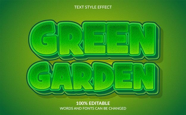 Efeito de texto editável estilo de texto jardim verde