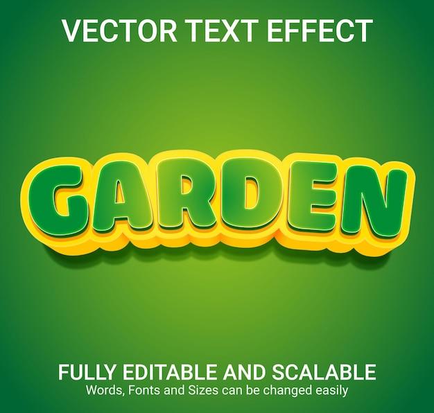 Efeito de texto editável - estilo de texto jardim