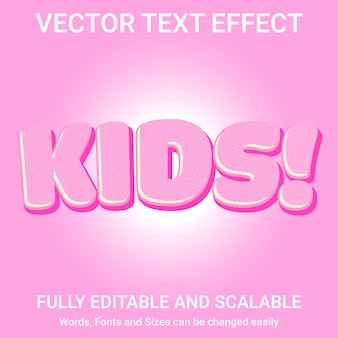 Efeito de texto editável - estilo de texto kids