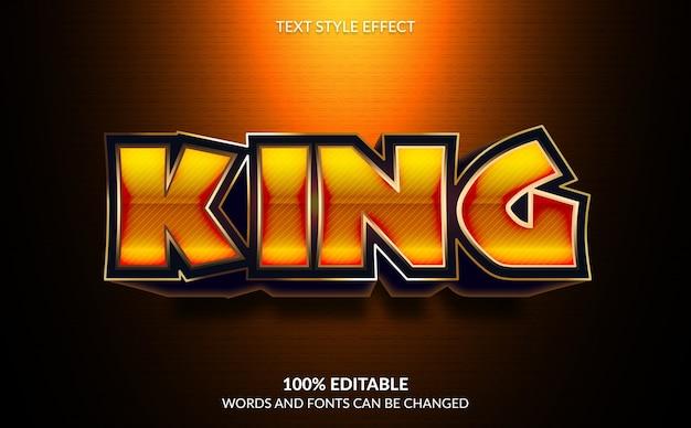 Efeito de texto editável, estilo de texto king moderno