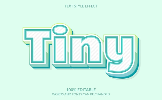 Efeito de texto editável, estilo de texto minúsculo