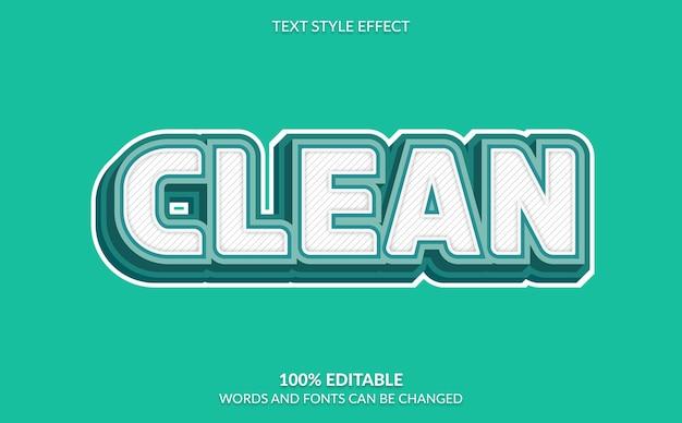 Efeito de texto editável, estilo de texto moderno e claro