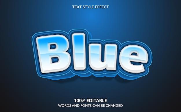 Efeito de texto editável, estilo de texto moderno em negrito azul