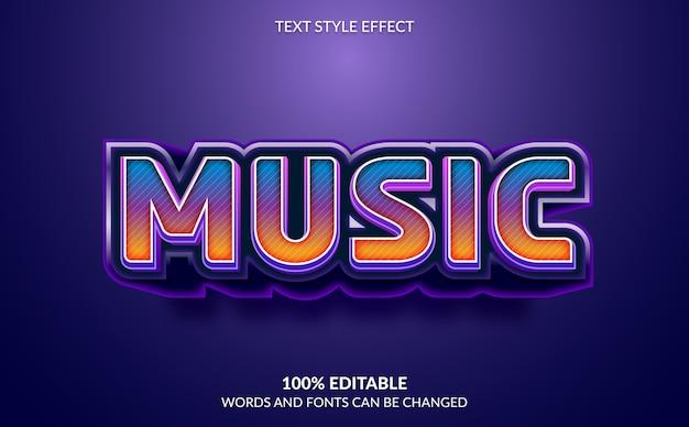 Efeito de texto editável, estilo de texto musical
