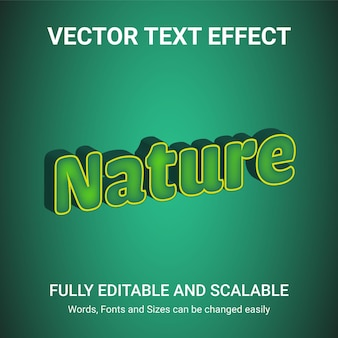 Efeito de texto editável - estilo de texto natureza