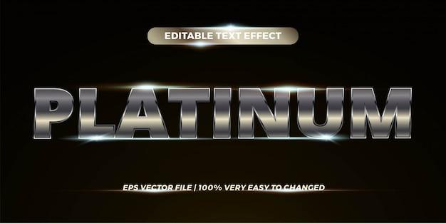 Efeito de texto editável - estilo de texto platinum