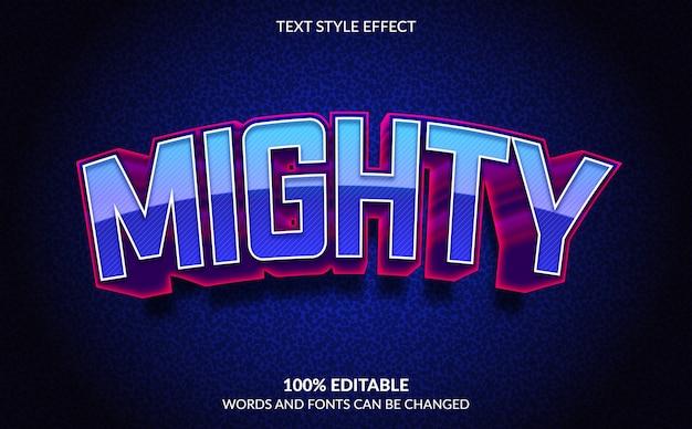 Efeito de texto editável, estilo de texto poderoso