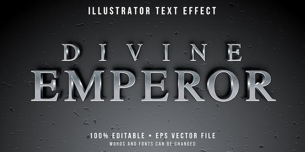 Efeito de texto editável - estilo de texto prateado texturizado