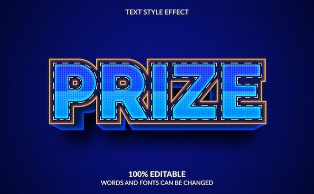 Efeito de texto editável, estilo de texto premiado