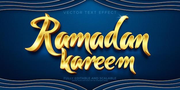 Efeito de texto editável, estilo de texto ramadan kareem