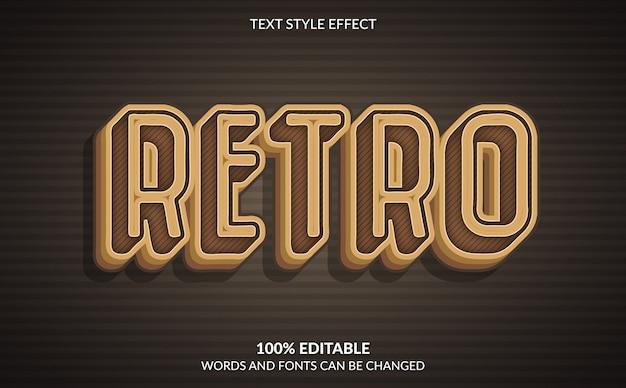Efeito de texto editável, estilo de texto retrô
